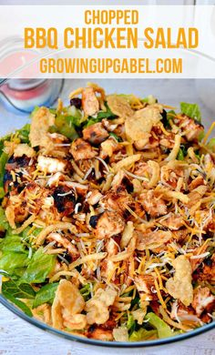 Need an easy dinner recipe? This delicious salad is loaded with chicken, corn, beans, barbeque sauce and a tasty dressing the whole family will love.