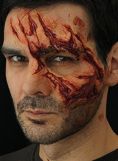 Scars and scratches inspiration - fantasy/Deadshot reference?