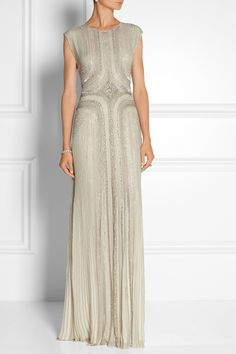 Shop for Embellished Silk-Chiffon Gown by Jenny Packham at ShopStyle. Now for Sold Out.