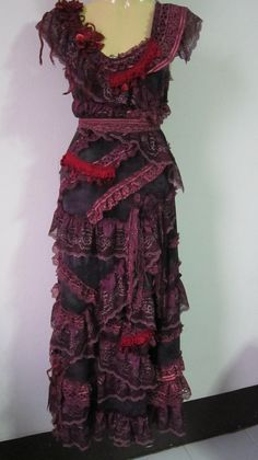 shabby bohemian gypsy dress