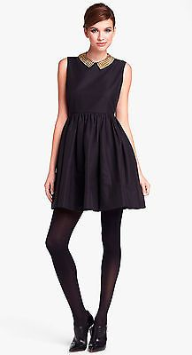 Kate Spade N Y Laurence Studded Collar Fit Flare Dress in Black Size 12 New | eBay