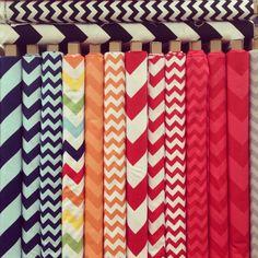 Cotton & Flax - Chevron fabrics in the LA Fashion District