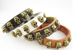 #skull #gift #bracelet $12.00  CLICK HERE FOR MORE :) www.metalangelfashion.com