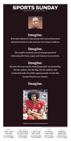 The Sports cover of the Houston Chronicle.pic.twitter.com/2BJyAKTpU3 Theatre Of The Absurd, Peaceful Protest, Political Art, Colin Kaepernick, History Facts, Satire, Peace And Love, Twitter Sign Up, Something To Do