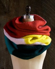 Linen Stitch Colorblock Wrap | The Purl Bee
