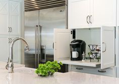 Coffee Station. Pull Out Coffee Station. Hidden pull out coffee station in…