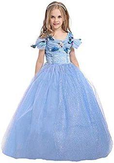 Girls Princess Fancy Dress ES-DRESS304-SEP 6-7 A/ños, ES-SEP304 ELSA /& ANNA/® Princesa Disfraz Traje Parte Las Ni/ñas Vestido