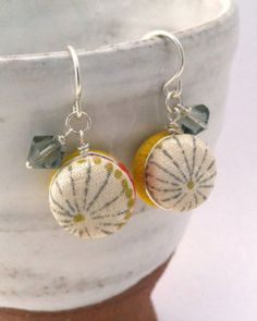 Eco chic: Modern earrings made of vintage kimonos