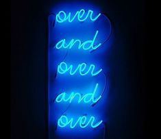 Pin- Baddies in lust Blue Aesthetic Dark, Aesthetic Colors, Aesthetic Pictures, Blue Neon Lights, Neon Rouge, Neon Bleu, Neon Quotes, Everything Is Blue, Neon Words