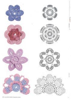 crochet home: Irish lace Crochet Applique Patterns Free, Irish Crochet Patterns, Crochet Symbols, Crochet Motifs, Crochet Diagram, Freeform Crochet, Crochet Chart, Crochet Designs, Knit Crochet