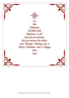 Christmas Insert & Verse In Red Christmas Tree Shape – Christmas DIY Holiday Cards Christmas Tree Poem, Christmas Card Verses, Christmas Wishes Quotes, Christmas Card Messages, Christmas Sentiments, Christmas Greetings, Red Christmas, Christmas Cards, Merry Christmas Quotes Wishing You A