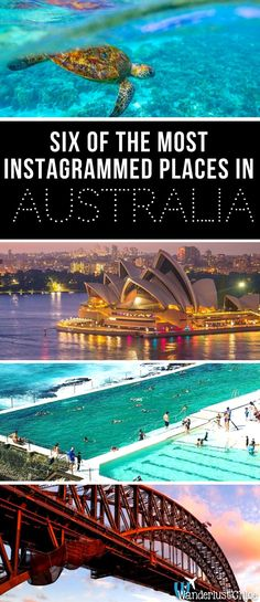 Six Of The Most Instagrammed Places In Australia. It's time to find out Australia's top travel destinations, according to Instagram. https://www.wanderlustchloe.com/australia-most-instagrammed-places/