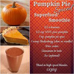 Pumpkin Pie Spiced Shakeology