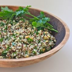 Spring Herb Quinoa Salad | Great pre-exercise energy boosting snack!