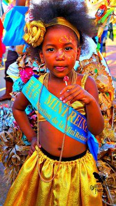 Mini-reine d'une des communes de l'île. #carnaval aux #antilles.