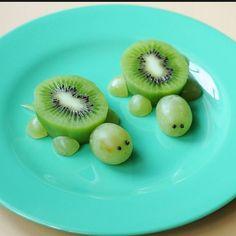 Kiwi & Grape Turtle Snack