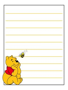 """Pooh - Project Life Journal Card - Scrapbooking ~~~~~~~~~ Size: 3x4"""" @ 300 dpi. This card is **Personal use only - NOT for sale/resale** Logo/clipart belongs to Disney. *** Click through to photobucket for more versions of this card with different Pooh poses ***"""