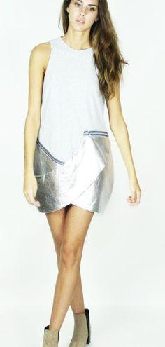 Kirsty Doyle/LizzieGrey marl & leather dress #aw13