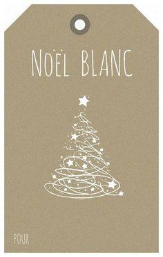 Noël Blanc (étiquette kraft)