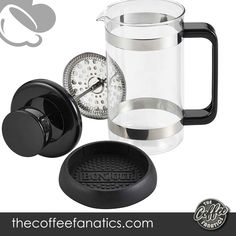 This French press is top-rack dishwasher safe, though hand-washing with a gentle detergent is recommended; includes a measuring coffee scoop Lifetime limited warranty - and therefore the French press makes an excellent addition to other beverage items within the bonjour collection Best French Press Coffee, Espresso Kitchen, Steaming Cup, Stainless Steel Rod, Heat Resistant Glass, Fresh Coffee, Dishwasher, Black Press, Carafe
