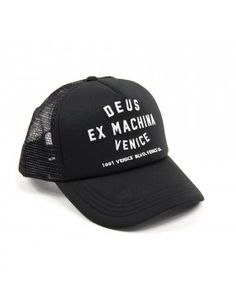 DEUS Venice Address Trucker cap - Black
