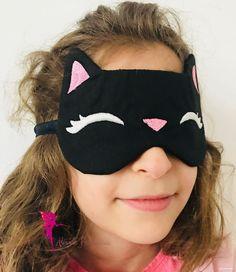 Cat Sleep Mask, Sleepy Kitty Face Mask, Sleeping Mask, Cat lover gift, Black blindfold, Sleeping glasses Cat Lover Gifts, Cat Lovers, Sleep Glasses, Cat Pillow, Sleepy Cat, Cat Sleeping, Sleep Mask, Spa Day, Gifts For Family