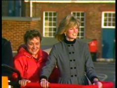 During the visit of the wreck of the Mary Rose in Portsmouth the Princess wears a wool flannel coat dress