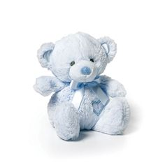 Small Baby Safe Plush Blue Teddy Bear by Nat and Jules