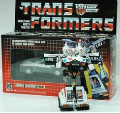 If I get no other G1 Transformer in my collection in the design and the box like they came in during the 80's, I gotta have my main bot, PROWL. =D
