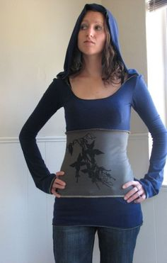 Cascade hoodie Tunic by HerbanDevi on Etsy