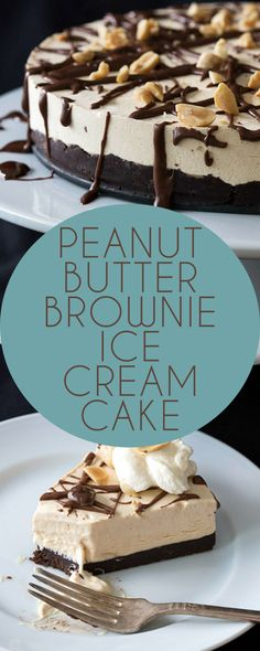 This low carb Peanut Butter Brownie Ice Cream Cake is no churn! LCHF Keto THM Banting Atkins recipe