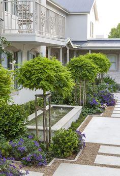 Designer: Tirzah Stubbs Style: Classical Garden Type: Private Garden Garden Types, Private Garden, South Africa, Sidewalk, Gardens, Plants, Design, Style, Swag