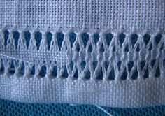 ricamo e... altro: sfilati.../2 Italian embroidery - pulled thread - gramma taught me how to do this. -K