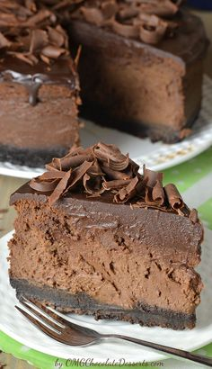 Why hello there, death by chocolate. This triple chocolate cheesecake is about to become your favorite dessert recipe.
