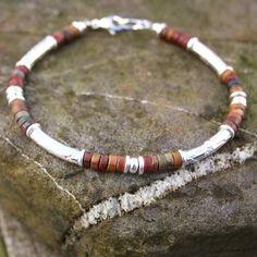 silver and jasper bracelet - Macaroni bracelet £88.00