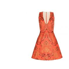 The new black: orange - Vogue.it ❤ liked on Polyvore featuring dresses