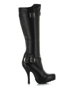 Take a look at this Black Anarchy Boot by Ellie Shoes on #zulily today!