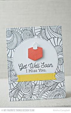Feel Better Stamp Set, Wavy Coloring Book Background, Beside Comfort Die-namics, Stitched Arch STAX Die-namics, Stitched Sentiment   Strips Die-namics - Keisha Campbell  #mftstamps