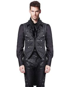 Punk rave mens vest #waistcoat tailcoat black damask gothic #steampunk #victorian,  View more on the LINK: 	http://www.zeppy.io/product/gb/2/381692667567/