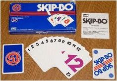 Skip-Bo...oh how we played this game at my mamaws, except we had homemade skip-bo cards.....