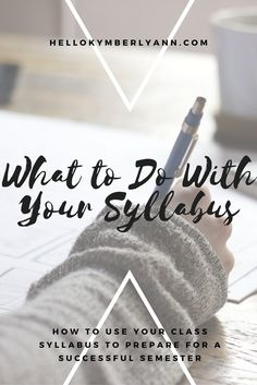 What to do with your syllabus: how to use your class syllabus to prepare for a successful semester