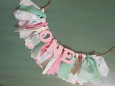 First Birthday Pink and Mint Green ONE Rag Banner for Little Girl - Garland - Bunting - Sign for First Birthday Party - Photoshoot Prop on Etsy, $18.00