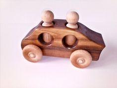 Wooden Toy Car  Sedan by uswoodtoys on Etsy, $18.00