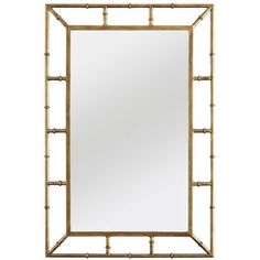 I can never get enough faux bamboo | Zhu Mirror $129