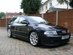 """Audi A4 1.8T B5 Avant Votex kit lowered on coil overs 18"""" alloys tinted plates"""