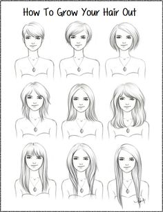 haircut for trying to grow hair out - Google Search