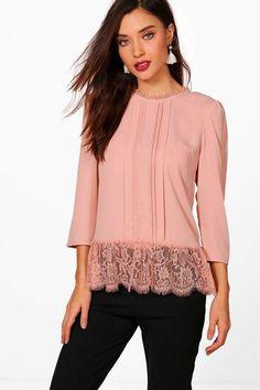 f809b49ab110b3 Abigail Eyelash Lace Trim Blouse. Floral BlouseRed Off Shoulder TopBlouse  StylesShirt ...