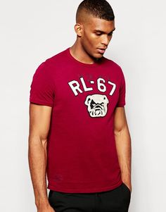 """T-shirt by Polo Ralph Lauren Soft-touch jersey Crew neck Logo applique Regular fit - true to size Machine wash 100% Cotton Our model wears a size Medium and is 188cm/6'2"""" tall"""