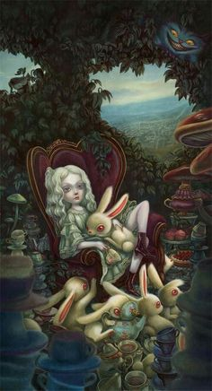 """Afternoon tea"" - Benjamin Lacombe"
