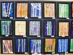 2nd grade birch trees - beautiful.